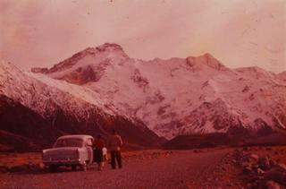 Mt Sefton 1958 from slide